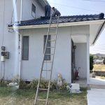 瓦屋根の現状調査。