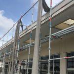 体育館塗装・防水工事がスタートしました!