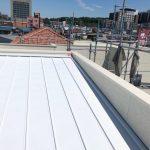屋根の遮熱塗装。